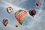Hot-air Balloons in Colored Pencil, Seymour, Wisconsin