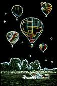 Balloons with glowing edges, EAA, Oshkosh, Wisconsin