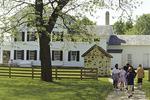 Children going to Wade House, Wisconsin Historic Site, Greenbush, Wisconsin