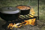 Cooking Dinner at Campfire, Civil War Re-enactment, Wade House, Wisconsin Historic Site, Greenbush, Wisconsin
