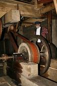 Herrling sawmill wheel and sawyer, Wade House, Wisconsin Historic Site, Greenbush, Wisconsin