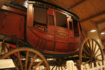 Stagecoach in Wesley Jung Carriage Museum, Wade House, Wisconsin Historic Site, Greenbush, Wisconsin