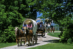 Covered Wagons, Wade House, Wisconsin Historic Site, Greenbush, Wisconsin