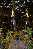 Luau Torches in evening, Maui, Hawaii
