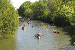 Canoes and Kayaks at Fox River Locks, Appleton, Wisconsin