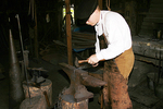 Blacksmith at work, Wade House, Wisconsin Historic Site, Greenbush, Wisconsin