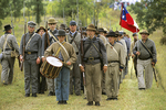 Confederate Troops marching to battle, Civil War Reenactment, Wade House, Wisconsin Historic Site, Greenbush, Wisconsin
