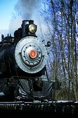 Snow Train in winter, North Freedom, Wisconsin