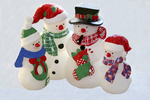 Snowman Family Candle, Appleton, Wisconsin