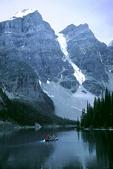 Moraine Lake and Fishermen, Banff National Park, Canada