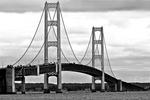 Mackinac Bridge in Black & White, Mackinaw, Michigan