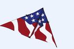 Patriotic Kite, EAA Kite Extravaganza, Air Venture Museum, Oshkosh, Wisconsin