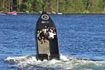 Minocqua Show Boat on end, Min-Aqua Bats Ski Show, Minocqua, Wisconsin