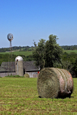 Barn and Hay Bale, Driftless area, Southwestern Wisconsin