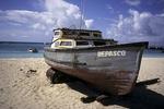 "Fishing Boat ""Despasco"" on beach, Barbados"