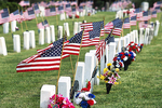 Flags at the Cemetery, Lakeview Memorial Cemetery, Oshkosh, Wisconsin