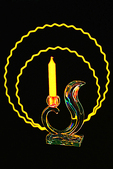 Yellow Candle and Glass Bird, Holland, Michigan