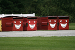Garbage Bins with Smiley Faces, Middlebury, Indiana