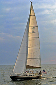 Sailboat on Lake Michigan, Holland, Michigan
