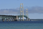Mackinac Bridge across Straits of Mackinac, Mackinaw City, Michigan
