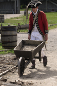 Pushing the Wheelbarrow, British soldier, Fort Michilimackinac, Mackinaw City, Michigan