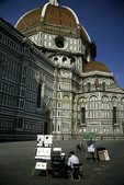 Duomo (Cathedral) with Artist, Florence, Italy
