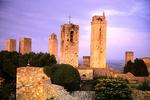 San Gimignano Towers after Sunset, San Gimignano, Italy