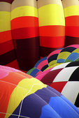 Hot Air Balloons with Patterns, Seymour, Wisconsin