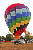 Hot Air Balloon Ready to Fly, Seymour, Wisconsin