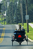 Amish Family in Buggy, Paradise, Lancaster County, Pennsylvania
