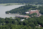 West Point Military Academy and Hudson River, West Point, New York