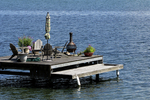 Pier in Lake Cayuga, Ovid, Finger Lakes, New York