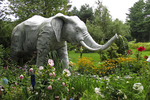 Elephant in Garden, Mister Ed's Elephant Museum, Orrtanna, Adams County, Pennsylvania