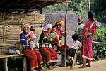 Palong Women and children, Norlae Village, Thailand
