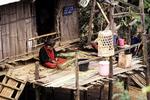 Palong Woman at Hut, Norlae Village, Thailand