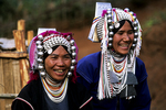 Akha tribe mother and daughter, Chiang Mai, Northern Thailand