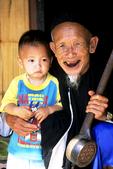 Grandpa Apa and child, Louta Lusi Village, Northern Thailand
