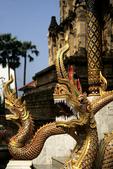 Dragon Statues at Wat Kukut, Lamphun, Thailand