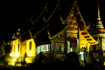 Wat Phra Singh at night, Chiang Mai, Thailand