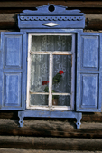 Window and Shutters, Barguzin, Lake Baikal, Siberia, Russia