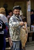 Man with Fish, Ust-Barguzin, Lake Baikal, Siberia, Russia