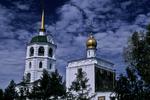 Church Steeples in Irkutsk, Lake Baikal, Siberia, Russia