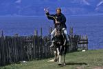 Horse Rider on Olkhon Island, Lake Baikal, Siberia, Russia