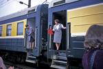 Train Stewardess, Trans-Siberian Railway, Siberia, Russia