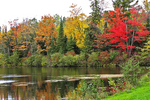 Fall Color and Lake, Northern Wisconsin