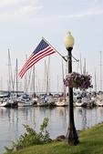 Marina and Flag, Bayfield, Wisconsin