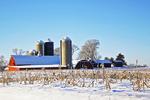 Farm in Winter, Green Lake, Wisconsin