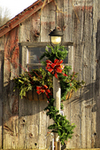 Christmas Lamp Post with Decorations, Plymouth, Wisconsin