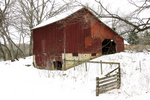 Amish Barn in Winter, Columbia County, Wisconsin