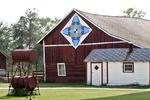 """Kaleidoscope"" Barn Quilt, #188, Krakow, Shawano County, Wisconsin"